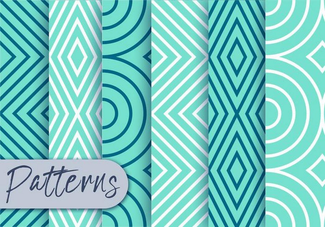 Blue-Line-Pattern-Set 30+ Best Line Patterns & Textures design tips