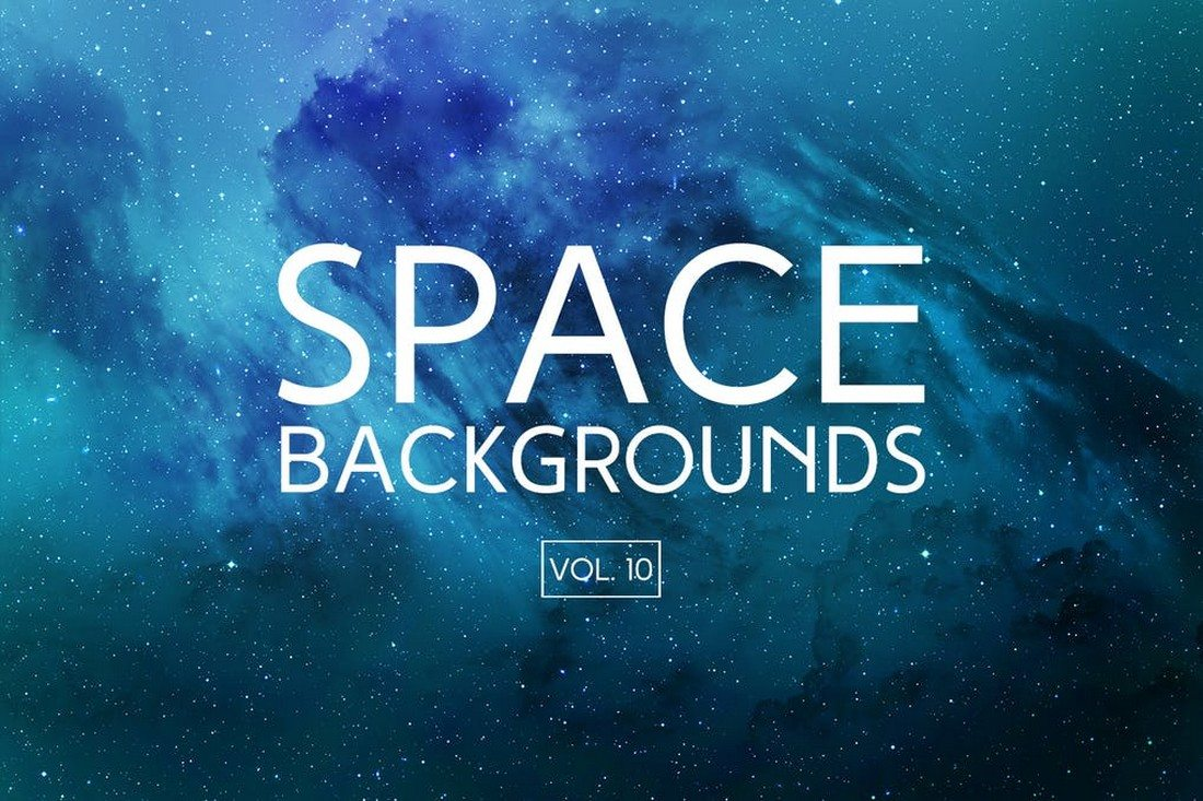 Blue-Space-Backgrounds 35+ Best Space & Galaxy Background Textures design tips