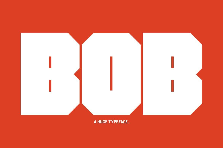 Bob - Big Block Font