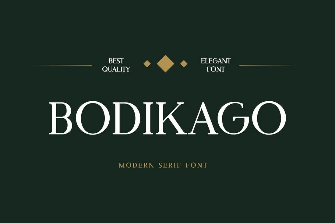 Bodikago - Luxury Serif Font
