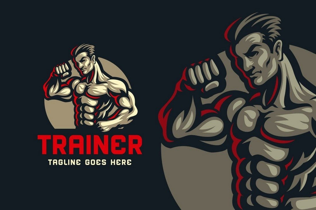 Body-Builder-Gym-Logo-Template 40+ Best Photoshop Logo Templates (PSD) design tips