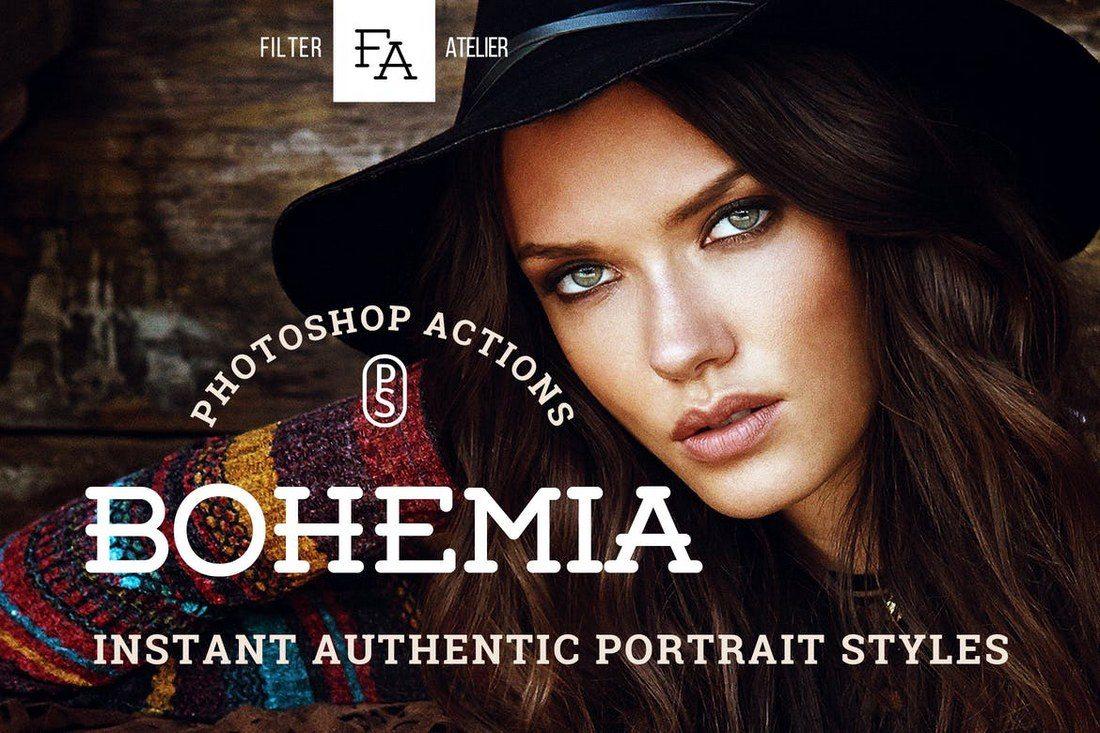 Bohemia-Photoshop-Actions 20+ Best Portrait Photoshop Actions design tips