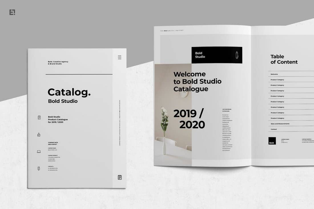Bold Catalog Corporate Brochure Template