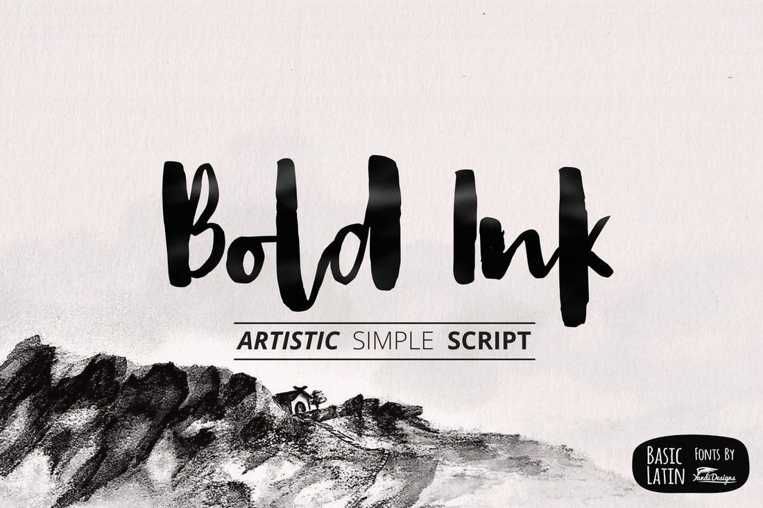 Bold-Ink-Simple-Font 50+ Best Hand Lettering & Handwriting Fonts 2021 design tips