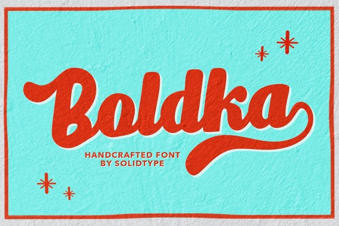 Boldka Script font