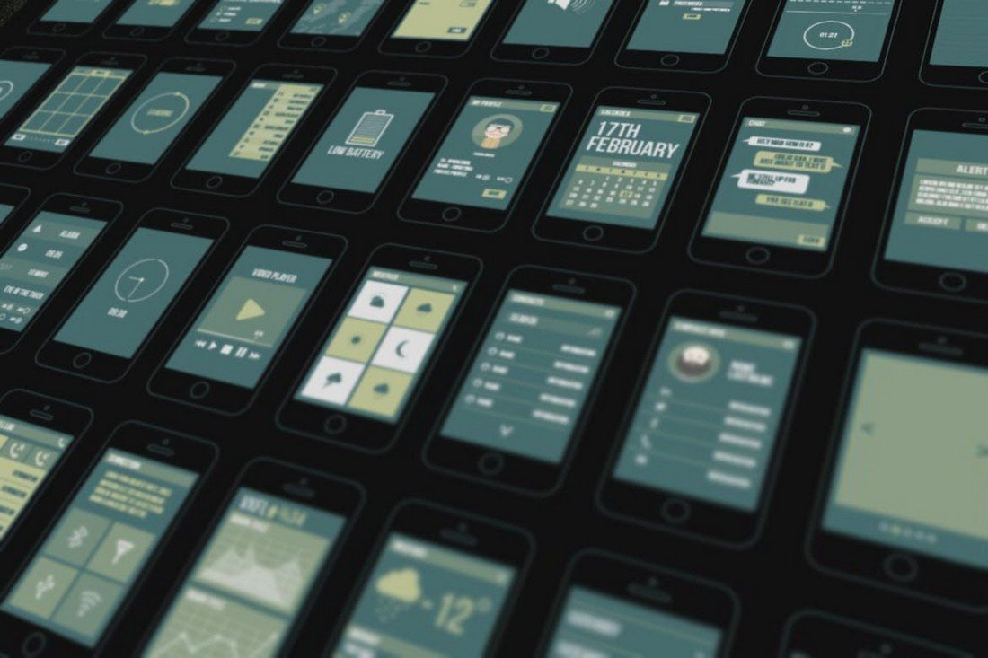 Bolt - Mobile Wireframe Templates 40 Screens
