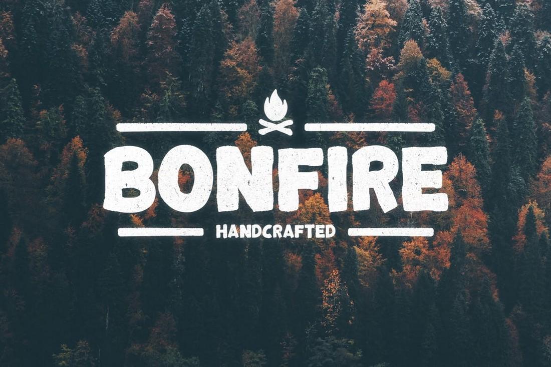 Bonfire - Bold Rustic Font