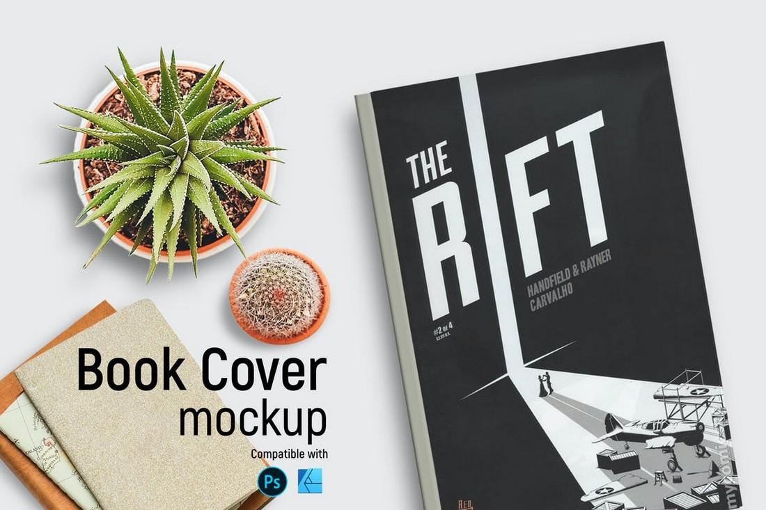 Book Cover Mockup for Affinity Designer