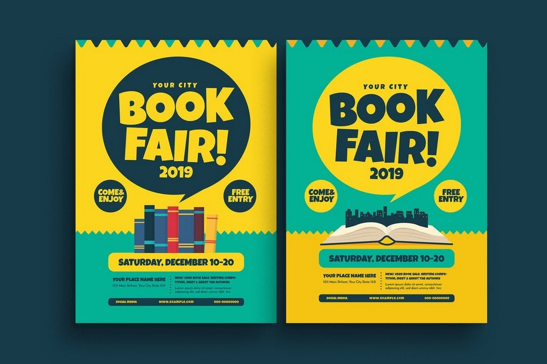 Book-Fair-Event-Flyer 20+ Best Event Flyer Templates design tips