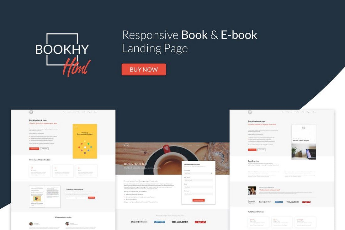 Bookhy-The-Perfect-Book-Landing-Page 30+ Clean & Minimal Landing Page Templates design tips