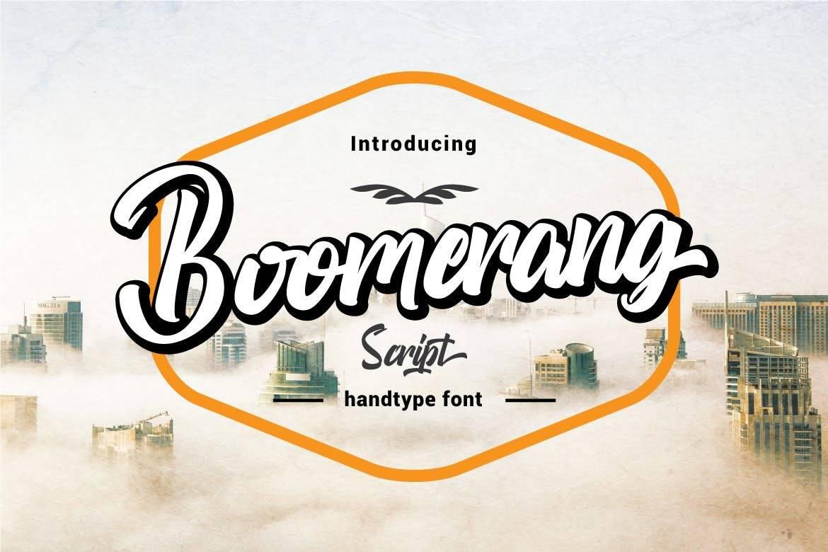 Boomerang Script Handtype Font