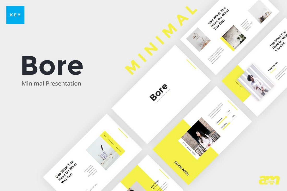 Bore-Minimal-Keynote-template 50+ Best Keynote Templates of 2021 design tips