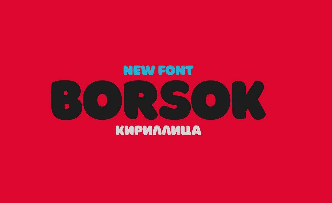 Borsok - Creative Free Poster Font