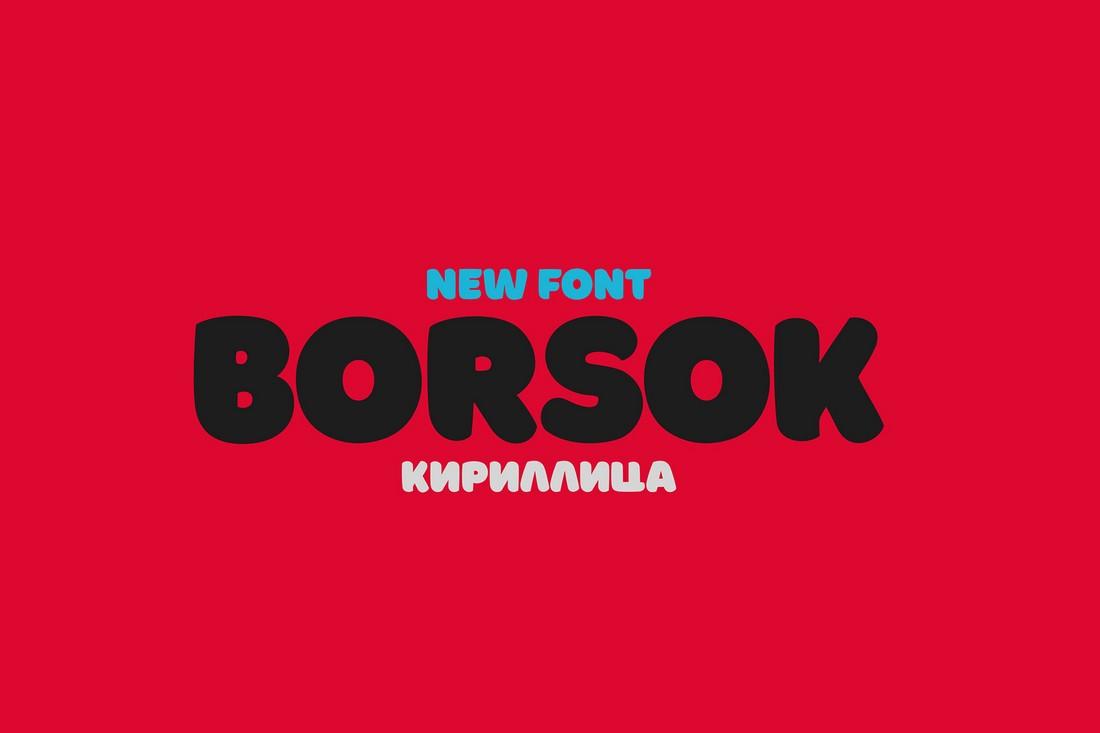 Borsok - Free Chunky Font