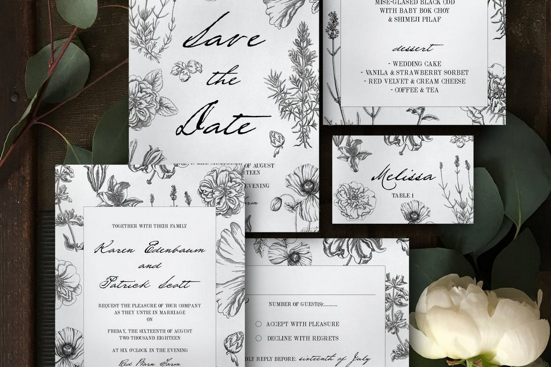 Botanical-Wedding-Invitation-Templates 15+ Gorgeous Save the Date Wedding Templates design tips