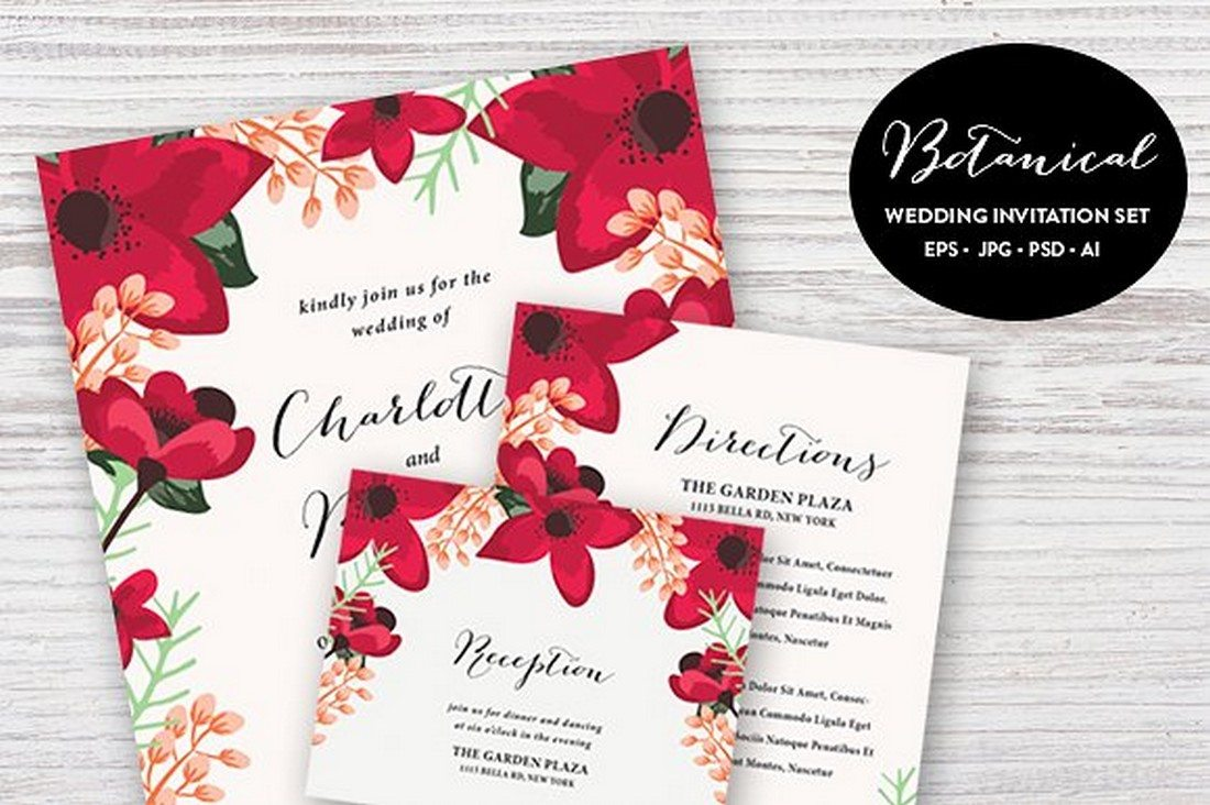 Beautiful Wedding Invitation Templates: 65+ Gorgeous Wedding Invitation Templates