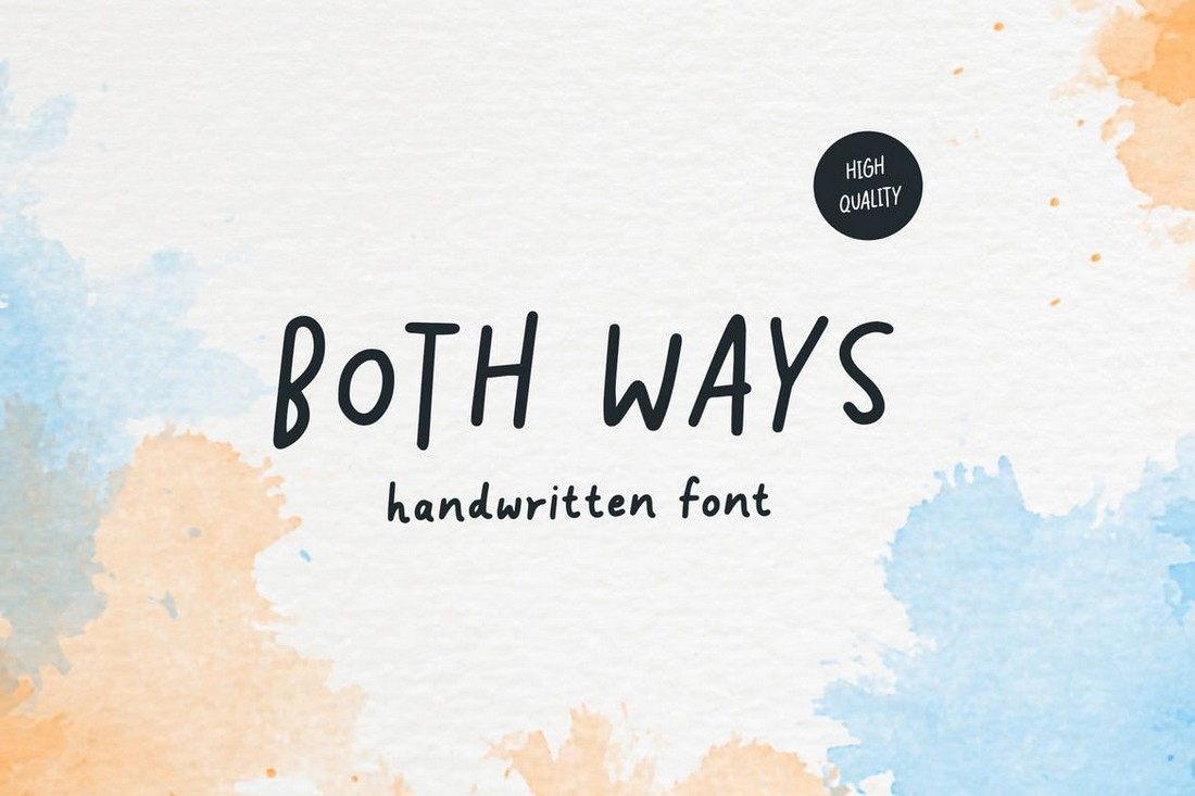 Both Ways - Minimal Handwritten Font
