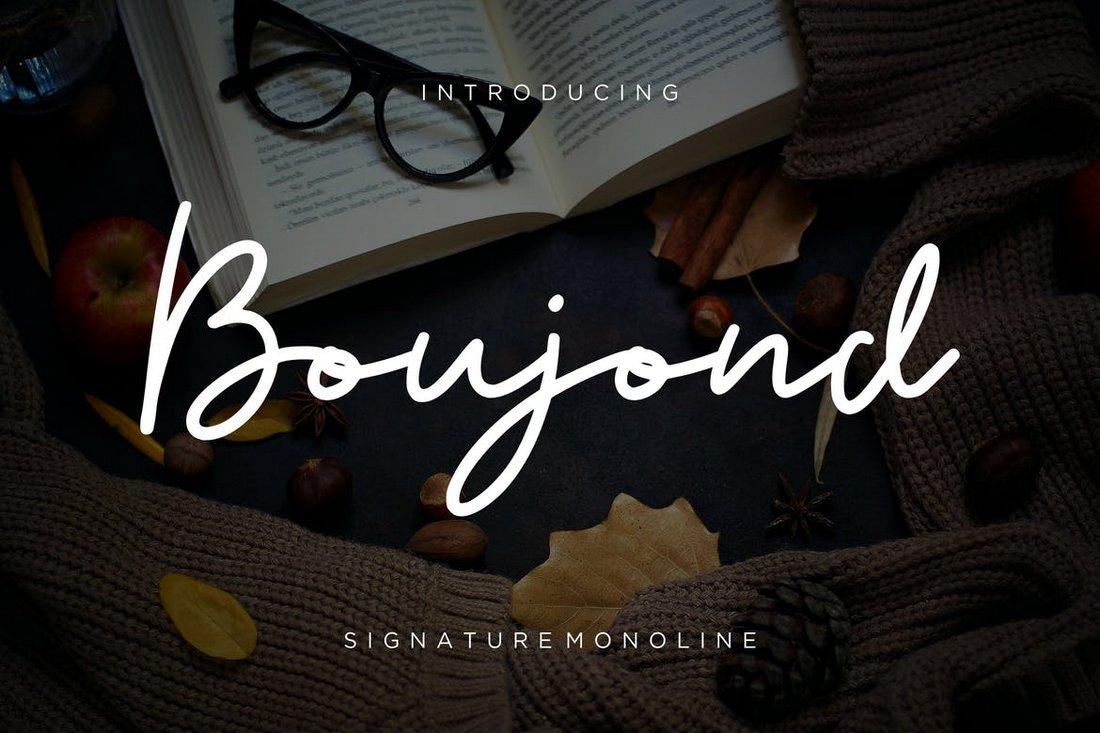 Boujond - Signature Monoline Font