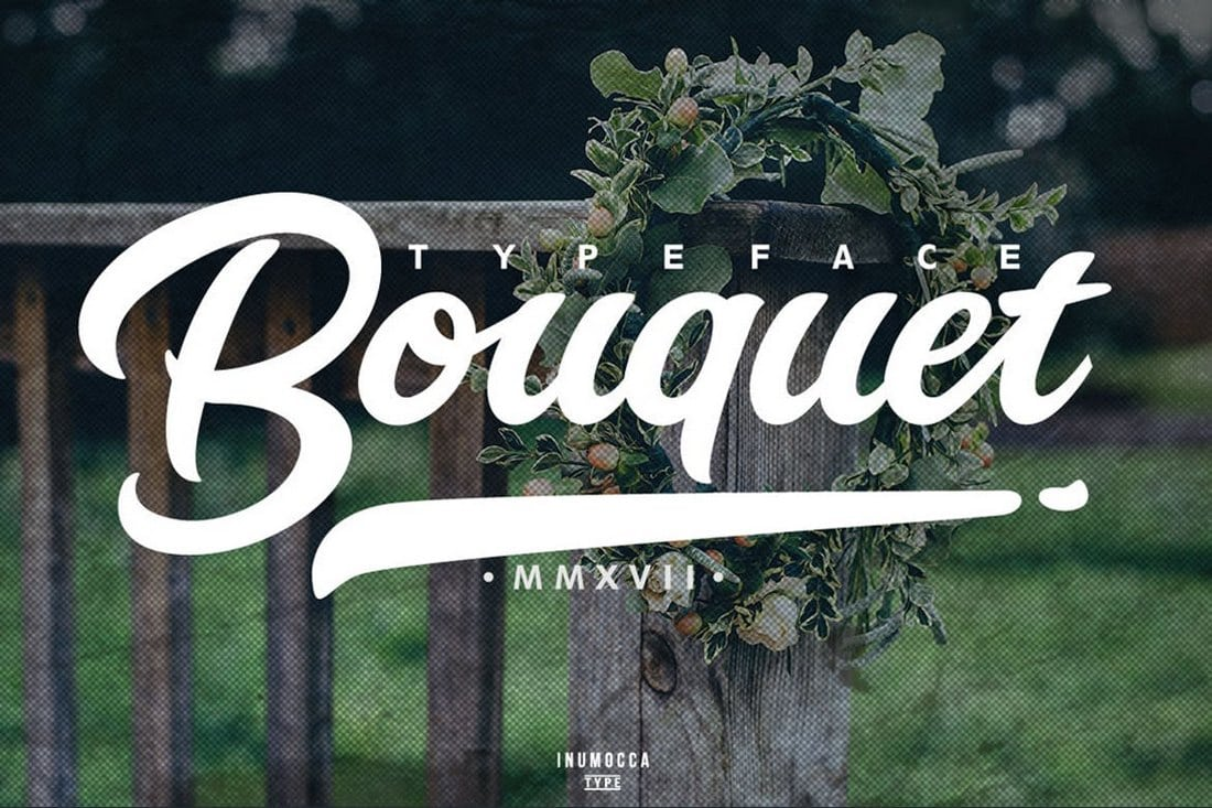 Bouquet-Typeface 30+ Best Fonts for Business Cards design tips