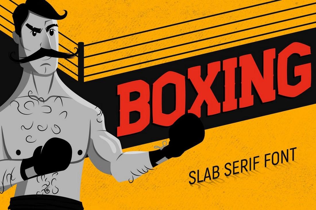 Boxing-Vintage-Slab-Serif-Font 50+ Best Slab Serif Fonts of 2021 design tips