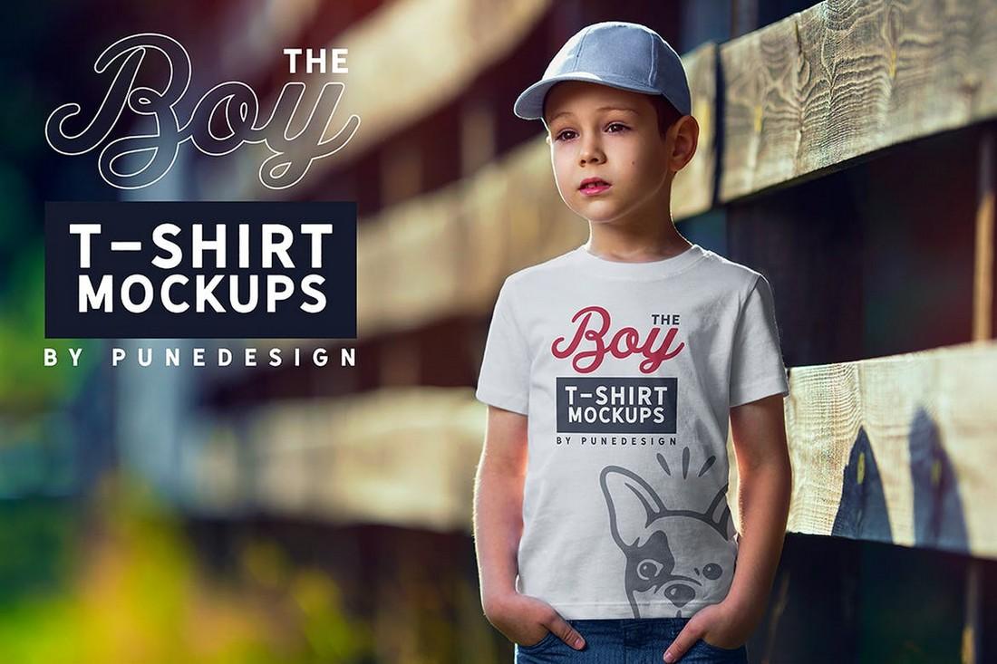 Boy T-Shirt Mockup Set
