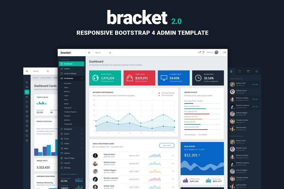 Bracket-Responsive-Bootstrap-Admin-Template 40+ Best Bootstrap Admin Templates of 2019 design tips
