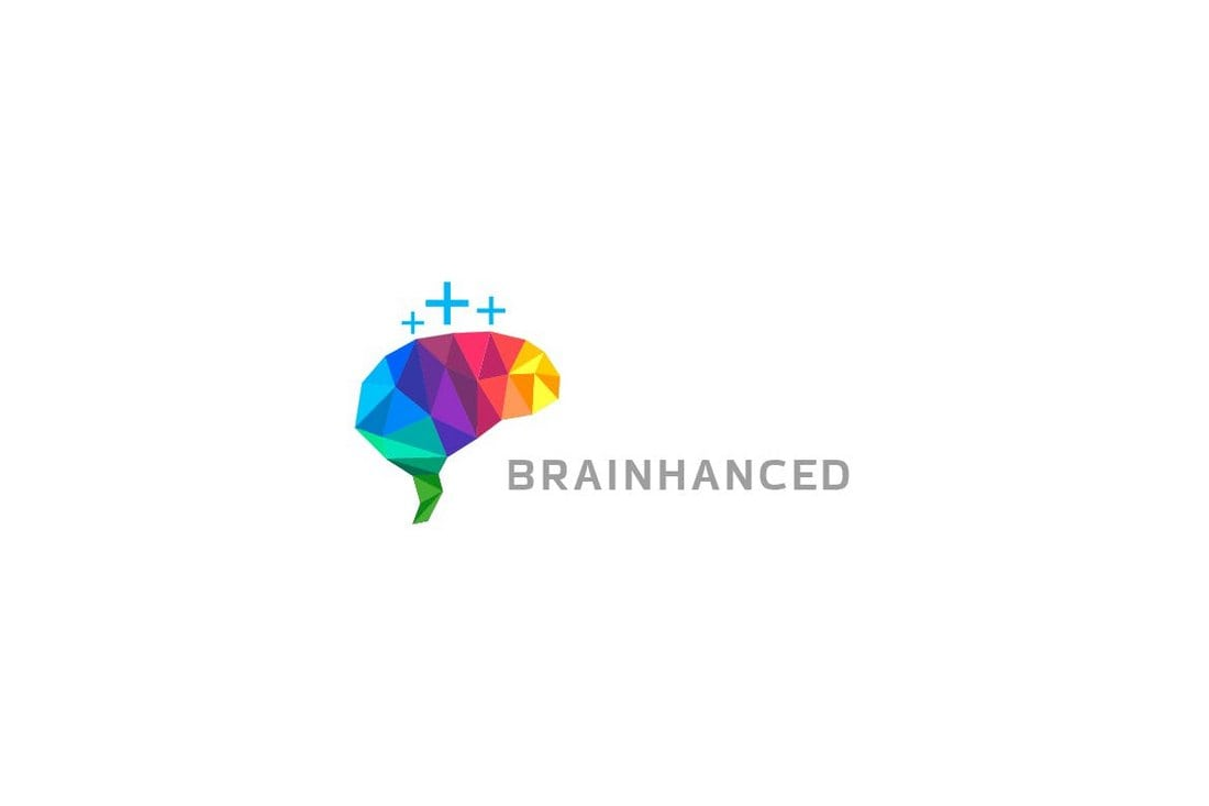 Brainhanced-Brain-Logo 50+ Best Minimal Logo Design Templates design tips