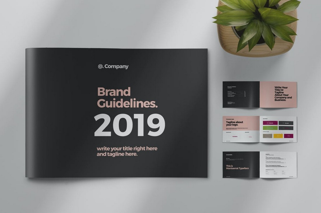 Brand-Guideline-Landscape-Template 20+ Best Brand Manual & Style Guide Templates 2020 (Free + Premium) design tips