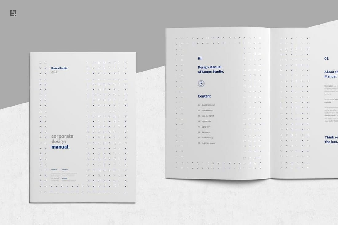 Brand Manual Book Template