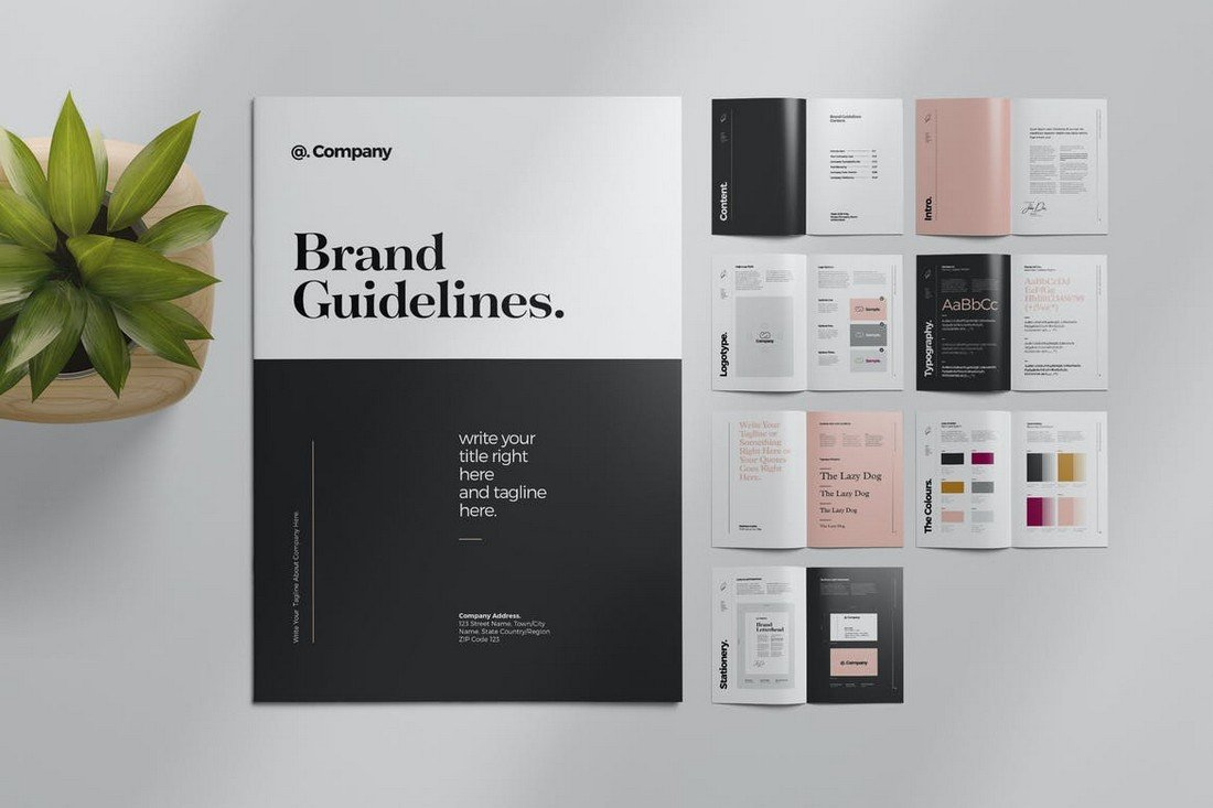 Brand-Style-Guide-Layout-Template 20+ Best Brand Manual & Style Guide Templates 2020 (Free + Premium) design tips