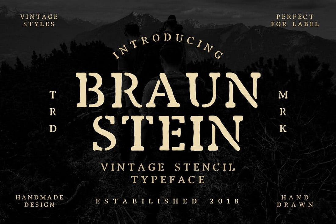 Braunstein-Font 30+ Best Stencil Fonts design tips