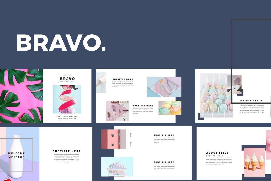 Bravo-Clean-Powerpoint-Template 20+ Simple PowerPoint Templates (With Clutter-Free Design) design tips