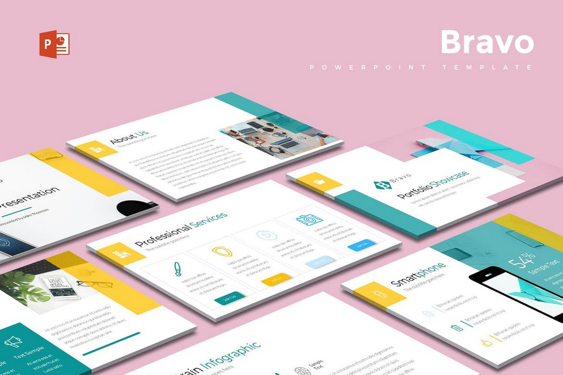 Bravo-Modern-Cool-Powerpoint-Template 20+ Best Cool PowerPoint Templates design tips