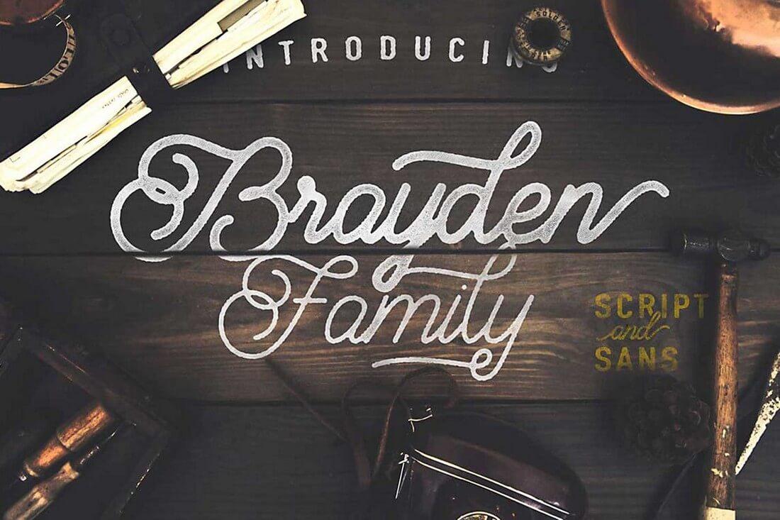 Brayden-Script 60+ Best Big, Poster Fonts of 2019 design tips