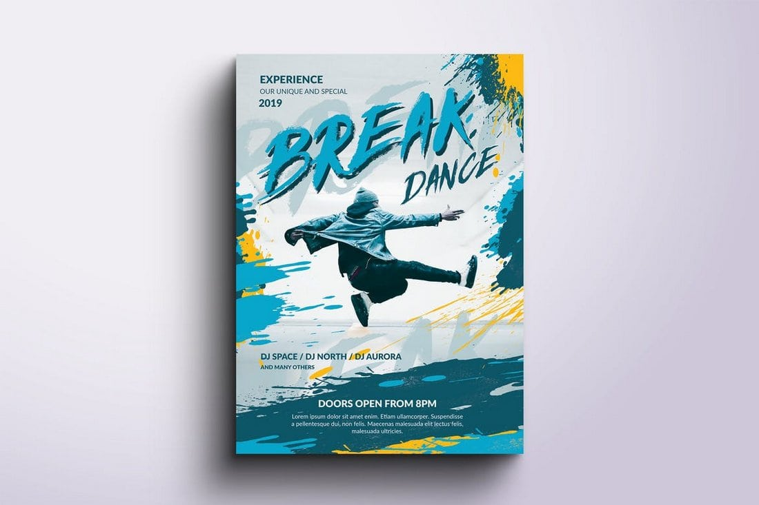 Break-Dance-Poster-template 30+ Best Poster Mockup Templates 2021 design tips
