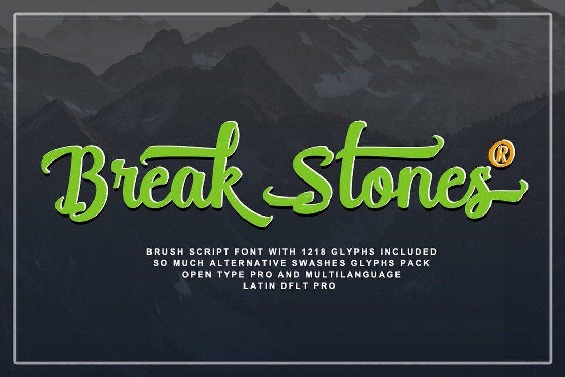Break-Stones-Pro 30+ Best Fonts for Logo Design design tips