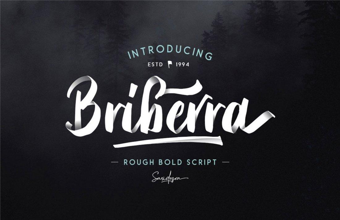 Briberra – Rough Bold Script Font
