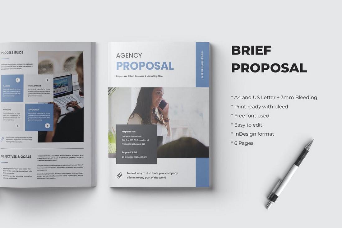 Brief Proposal Word Brochure Template