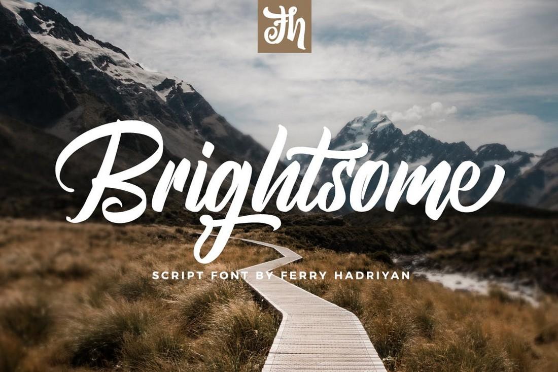 Brightsome - Script Logo Font