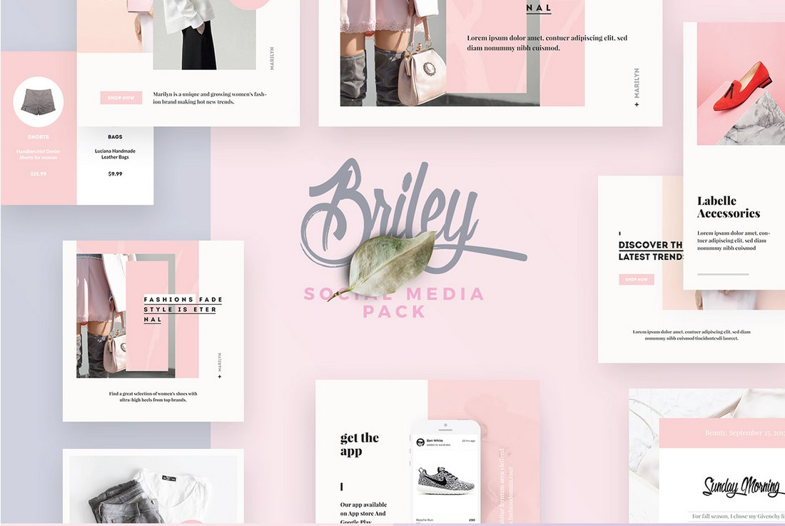 Briley - Free Fashion Instagram Templates