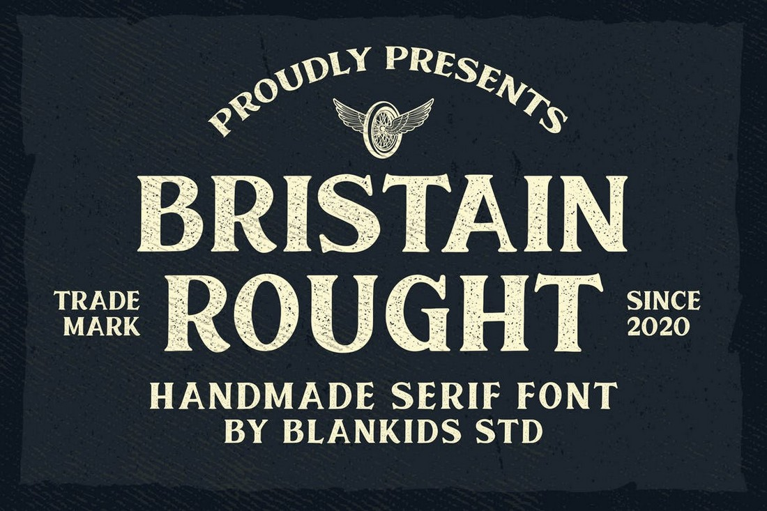 Bristain Rought - Rustic Serif Font
