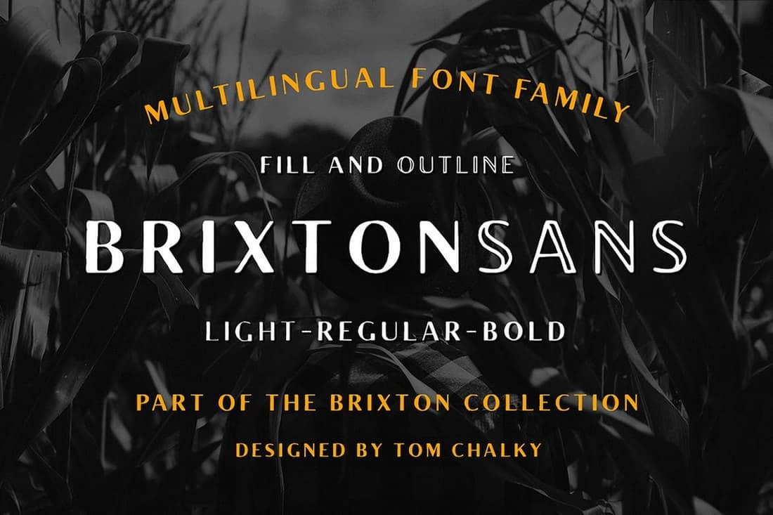 Brixton Sans - Fill and Outline Fonts