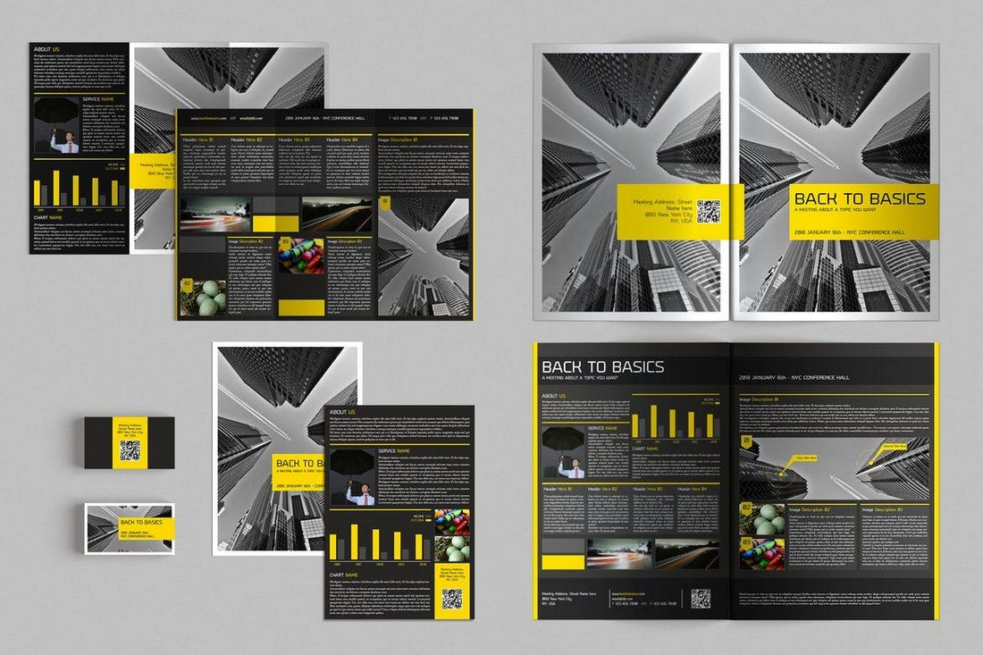 Brochures-Stationery-Pack 20+ Best Tri-Fold Brochure Templates (Word & InDesign) design tips