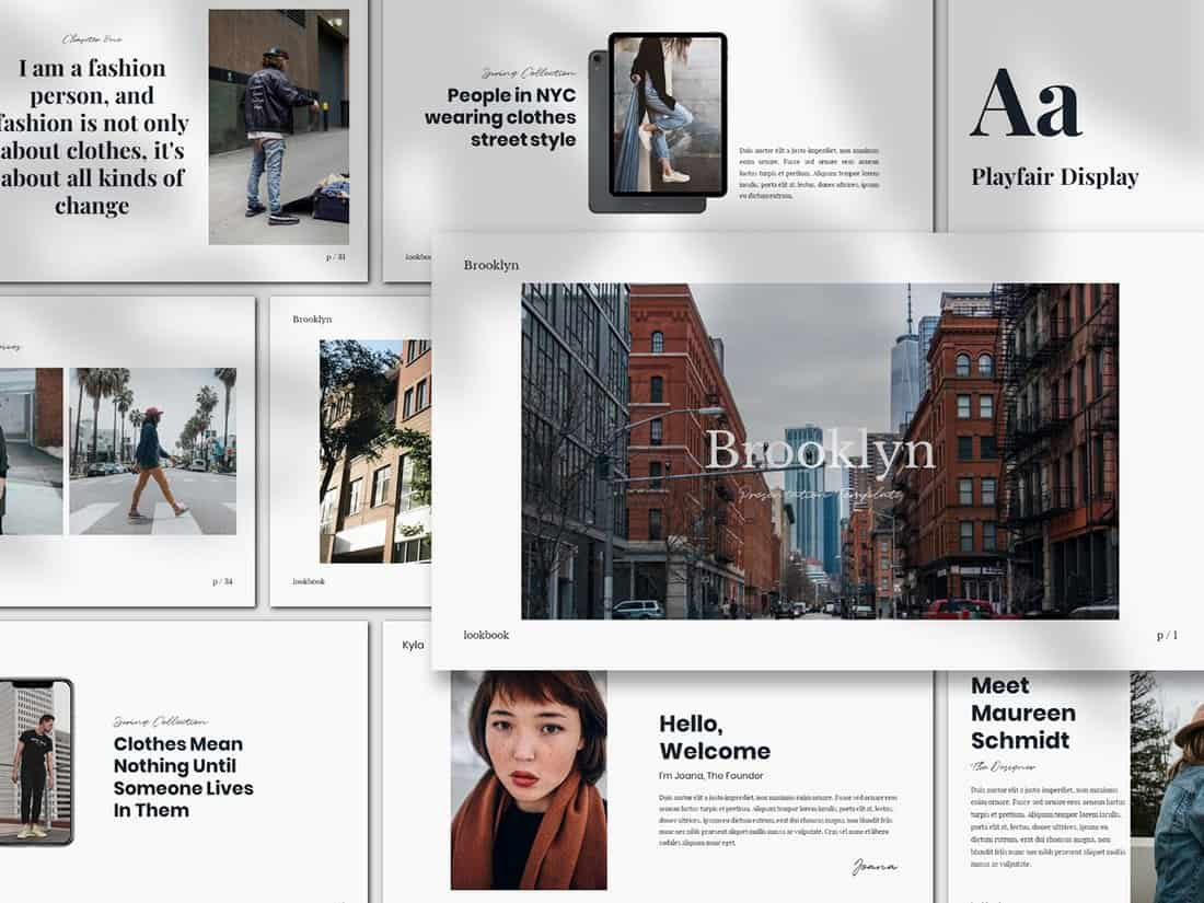 Brookly - Minimal Keynote Presentation Template