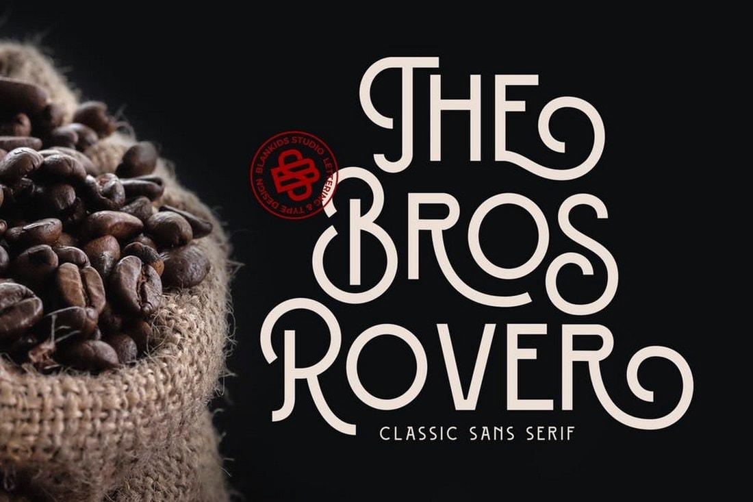 Bros Rover - Classy Sans Serif