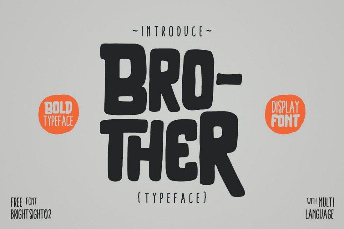 Brother-Typeface 25+ Best Monogram Fonts design tips