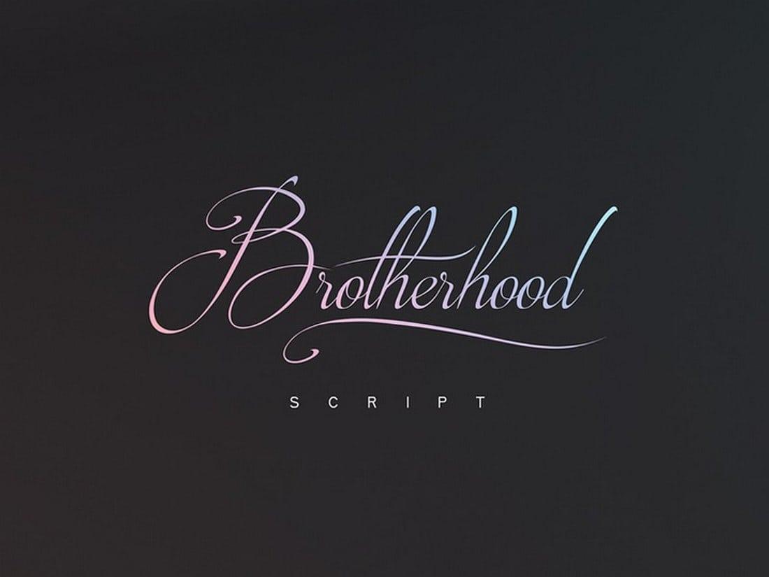 Brotherhood-Free-Script 20 Bold & Free Script Fonts design tips