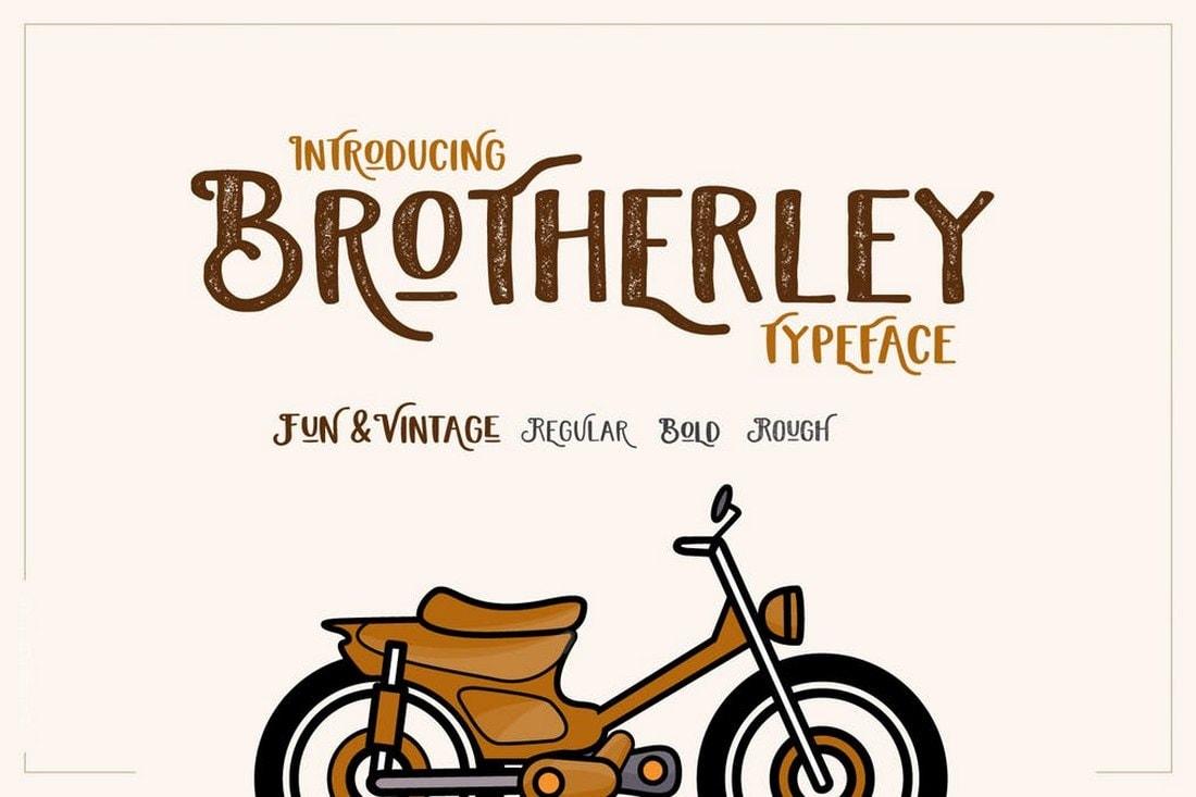 Brotherley - Fun Vintage Font