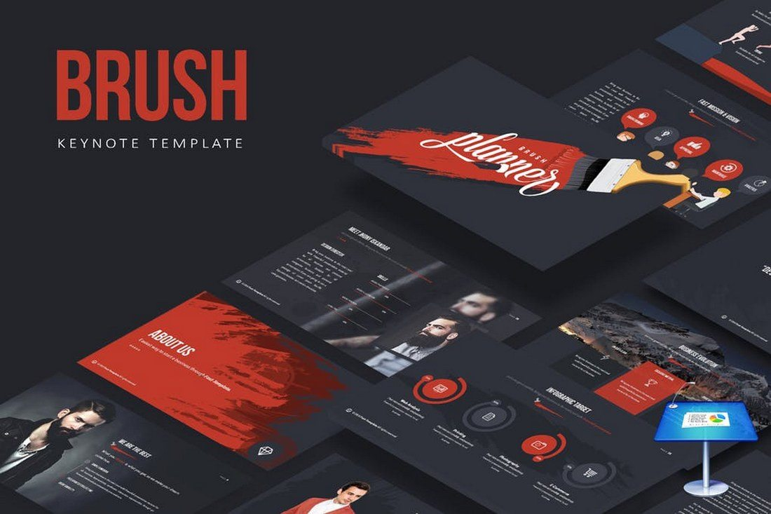 Brush-Keynote-Template 30+ Best Keynote Templates of 2018 design tips