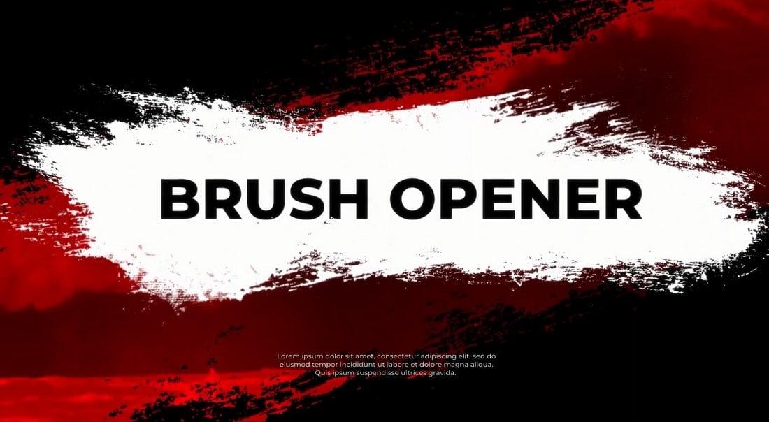 Brush Opener - DaVinci Resolve Intro Templates